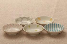 豆鉢パステル5柄5枚セット9cm浅鉢小鉢深皿和食器