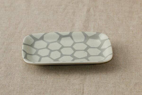 角皿 ロック おしゃれな四角い取り皿デザート・ケーキ皿にもプレート 長角皿 和食器 日本製