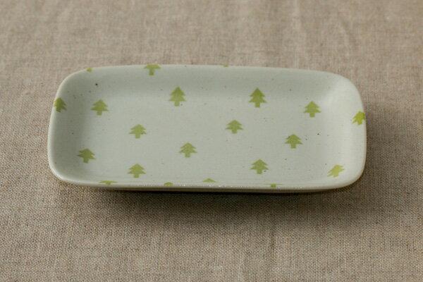 角皿 ツリー おしゃれな四角い取り皿デザート・ケーキ皿にもプレート 長角皿 和食器 日本製
