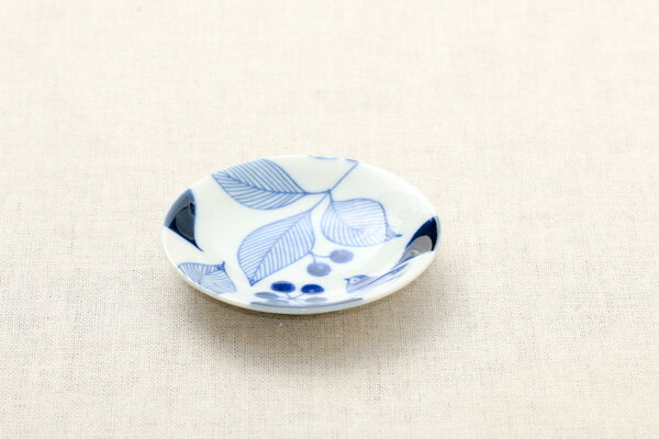 ボタニカル ガーデン 豆皿 薬味皿 醤油皿にピッタリ プレート10cm小皿 和食器 おしゃれ