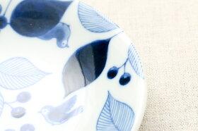 ボタニカル5柄豆皿5枚セット薬味皿醤油皿にピッタリプレート10cm小皿和食器おしゃれ植物柄