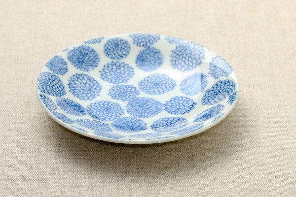 ボタニカル ダリア 取り皿 16.7cm 丸皿 プレート和食器 おしゃれ