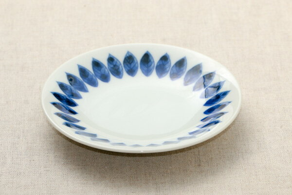 ボタニカル リーフ 取り皿 16.7cm 丸皿 プレート和食器 おしゃれ