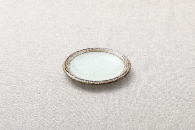 渕錆粉引 4寸皿 14cm 取り皿 銘々皿 和食器 おうちカフェスタイル プレート 日本製