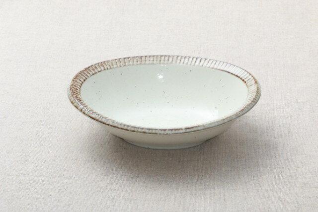 渕錆粉引 楕円鉢 大鉢 カレー皿 パスタ皿 和食器 おうちカフェスタイル ボウル 日本製