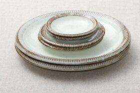 渕錆粉引プレート3種6枚セット大皿2枚取り皿2枚小皿2枚うちカフェスタイル日本製