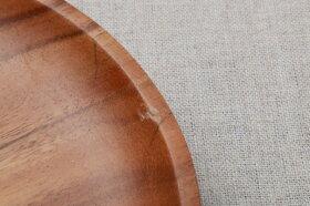 アカシアラウンドディッシュ30cm食洗機対応木製プレート丸皿ワンプレートランチプレートおうちカフェスタイル