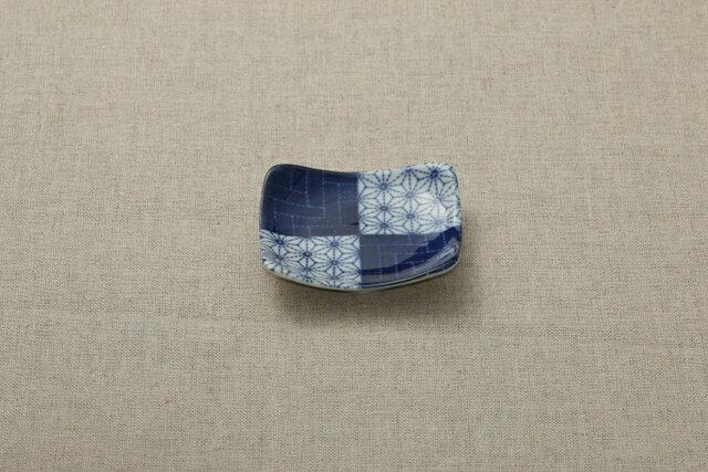 藍染5柄 刺し子 正角豆皿 3寸皿 角皿 ほっこりつかいやすい豆皿 薬味皿 プレート 小皿 和食器