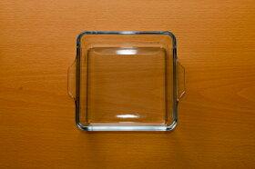 グラタン皿ベイクックロースターレクタングルL耐熱ガラス容器四角いガラスの角皿ケーキ型オーブン・レンジ対応