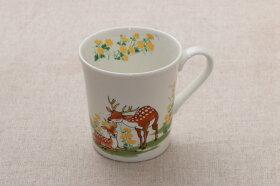 ひなたの森マグカップペアセット箱入うさぎくましかかわいい動物柄マグカップ2個セット和食器日本製ギフト