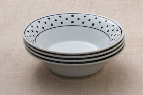 NOVAノヴァサラダボウルドット白と黒の大鉢水玉盛り鉢日本製食器美濃焼おしゃれカフェ風おうちカフェ