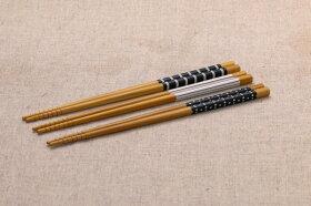 食洗機対応箸3膳セットモノクロ22.5cm日本製メール便発送可能水玉・ボーダー・ストライプ