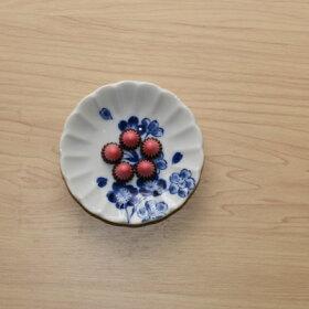 四季彩花豆皿5柄セット10cm小皿和食器薬味皿醤油皿プレートぶどうさくらうめつばきコスモス食器セット