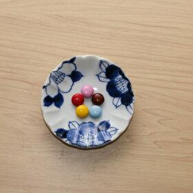 四季彩花豆皿5柄セット10cm小皿和食器薬味皿醤油皿プレートぶどうさくらうめつばきコスモス食器セット菊形
