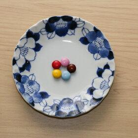 四季彩花取り皿5柄セット15cm中皿和食器プレート日本製美濃焼オシャレぶどうさくらうめつばきコスモス菊形