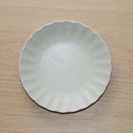 色釉5色 白マット 取り皿 15cm丸皿 和食器銘々皿 プレート 菊形4寸皿 中皿 ホワイト