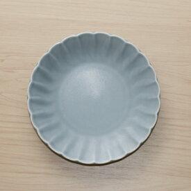 色釉5色 グレーマット 取り皿 15cm丸皿 和食器銘々皿 プレート 菊形4寸皿 中皿