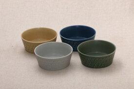 フラワースタンプ 切立小鉢 13.3cm ベージュ/グリーン/ネイビー/グレー日本製 食器 ボウル フルール