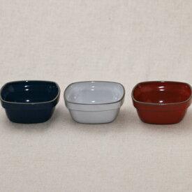 スタック スクエアココット フレンチグリル ブルー/ホワイト/レッド おしゃれ 耐熱食器 スフレ 陶器 オーブン料理 日本製 美濃焼 耐熱皿 カフェ風 グラタン皿 ココット皿 スタッキング
