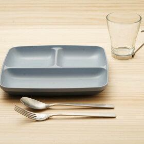ランチプレート23cmスクエアスタッキングミン・ファーリMINFARG洋食器プラスチック日本製