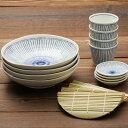 点十草 ざるそばセット 四人分 送料無料 そば皿 そば猪口 薬味皿 竹すのこ 各4個 日本製 和食器セット 美濃焼