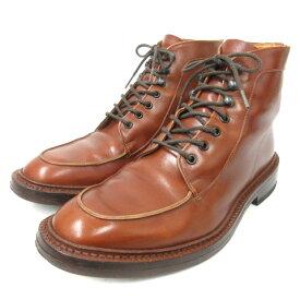 【中古】トリッカーズ TRICKER'S 840149 プレーントゥ 7ホール Uチップ ブーツ 無地 9 茶 ブラウン 靴 メンズ 【ベクトル 古着】 210109 ベクトルプレミアム店