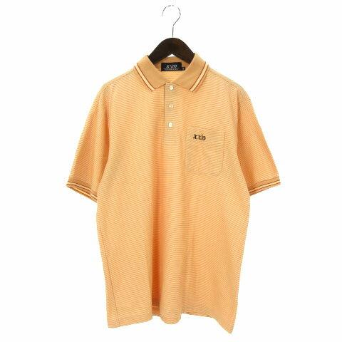 ゼクシオ XXIO ポロシャツ 半袖 ボーダー オレンジ M メンズ 【中古】【ベクトル 古着】 170620 ブランド古着ベクトルプレミアム店