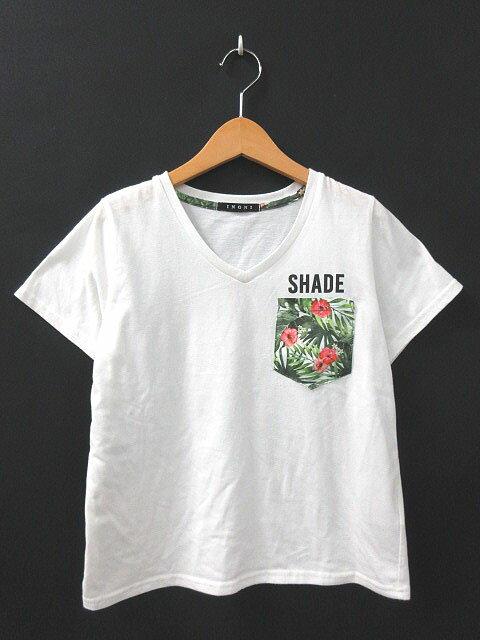 イング INGNI Tシャツ プリント ホワイト 白 M 171109T レディース 【中古】【ベクトル 古着】 171109 ブランド古着ベクトルプレミアム店