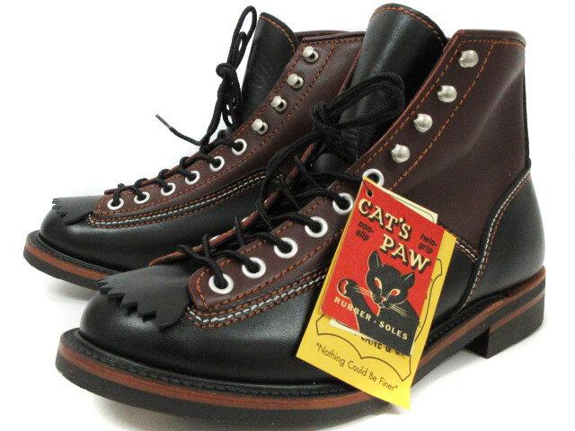 未使用品 ロンウルフ LONE WOLF ブーツ CAT'S PAW SOLE CARPENTER F01615 キャッツポウソール カーペンター ブラック ブラウン 9 メンズ 【中古】【ベクトル 古着】 180918 ブランド古着ベクトルプレミアム店