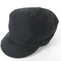 無印良品 良品計画 キャスケット リネン シルク混 ブラック 黒 帽子 ハット Y-180303 レディース