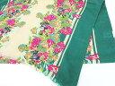 ストール ショール 花柄 ボタニカルプリント 大判 長方形 グリーン 緑 ピンク レディース 【中古】【ベクトル 古着】 …