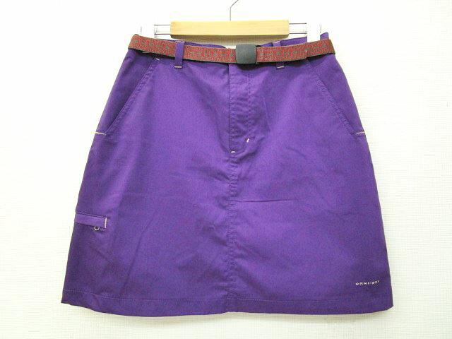 コロンビア Columbia スカート ミニ Argonne Skirt PL5349 アルゴンヌスカート ベルト付き M 紫 パープル S74119 レディース 【中古】【ベクトル 古着】 170716 ブランド古着ベクトルプレミアム店