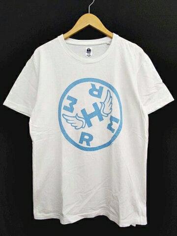 ハリウッドランチマーケット HOLLYWOOD RANCH MARKET Tシャツ 半袖 HRMプリント カットソー トップス クルーネック 2 M 白 ホワイト 日本製 B76274 メンズ 【中古】【ベクトル 古着】 170821 ブランド古着ベクトルプレミアム店