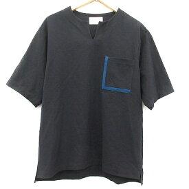 【中古】ステュディオス STUDIOUS Tシャツ カットソー 半袖 2 紺 ネイビー 青 ブルー /AD41 メンズ 【ベクトル 古着】 200417 ベクトルプレミアム店