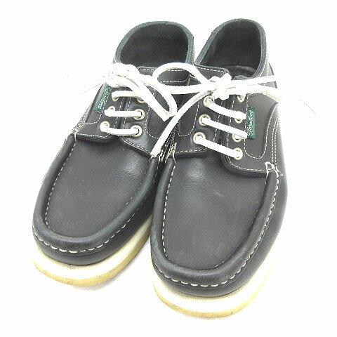 パラブーツ Paraboot デッキシューズ レザー 黒 ブラック size 3 1/2 靴 180115 メンズ 【中古】【ベクトル 古着】 180115 ブランド古着ベクトルプレミアム店