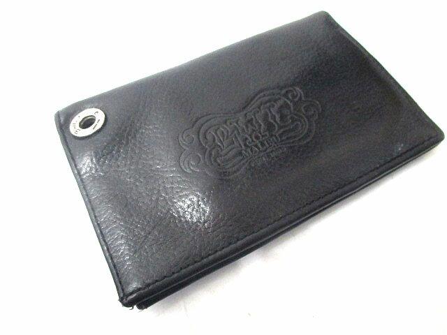 ビルウォールレザー Bill Wall Leather 財布 ウォレット 二つ折り 札入れ レザー ブラック 黒 メンズ 【中古】【ベクトル 古着】 171106 ブランド古着ベクトルプレミアム店