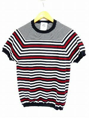 ブルックス ブラザーズ ブラック フリース BROOKS BROTHERS BLACK FLEECE Tシャツ カットソー 半袖 ボーダー マルチ ネイビー BB1 メンズ 【中古】【ベクトル 古着】 171226 ブランド古着ベクトルプレミアム店