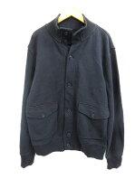 無印良品 良品計画 スウェットジャケット 長袖 無地 黒 ブラック L 【中古】【ベクトル
