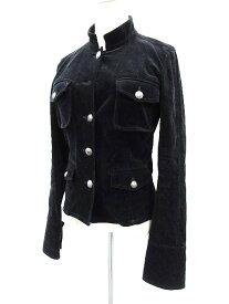 【中古】ブラック バイ マウジー BLACK by moussy ジャケット スタンドカラー ベロア ブラック 黒 2 レディース 【ベクトル 古着】 171107 ブランド古着ベクトルプレミアム店