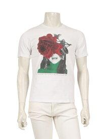 【中古】アンダーカバー UNDERCOVER Tシャツ 白 赤 グレー 2 トップス 半袖 プリント コットン メンズ 【ベクトル 古着】 ベクトルプレミアム店