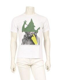 【中古】アンダーカバー UNDERCOVER Tシャツ 白 カーキ グレー 黄緑 2 トップス 半袖 プリント コットン メンズ 【ベクトル 古着】 ベクトルプレミアム店