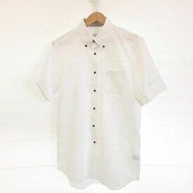 【中古】未使用品 ザ・スーツカンパニー THE SUIT COMPANY ワイシャツ ボタンダウン 半袖 SLIM FIT 白 LL *A422 メンズ 【ベクトル 古着】 200928 ベクトルプレミアム店