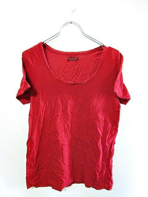 ティグルブロカンテ TIGREBROCANTE Tシャツ カットソー 無地 半袖 F 赤 レッド メンズ 【中古】【ベクトル 古着】 170222 ブランド古着ベクトルプレミアム店