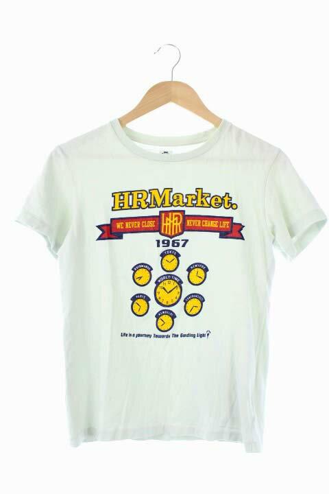 ハリウッドランチマーケット HOLLYWOOD RANCH MARKET Tシャツ カットソー プリント 半袖 XS 水色 /DF メンズ 【中古】【ベクトル 古着】 171204 ブランド古着ベクトルプレミアム店