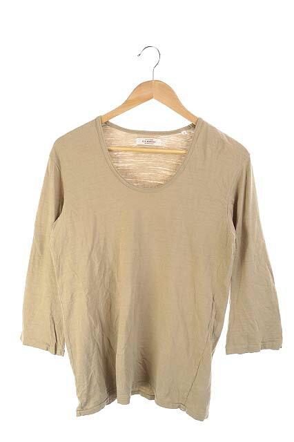 ハリウッドランチマーケット HOLLYWOOD RANCH MARKET Tシャツ カットソー 長袖 M ベージュ /IC メンズ 【中古】【ベクトル 古着】 180126 ブランド古着ベクトルプレミアム店