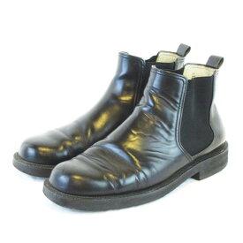 【中古】ケンゾー KENZO サイドゴアブーツ レザー ショートブーツ ブラック 黒 25.5cm 【ベクトル 古着】 201014 ベクトルプレミアム店