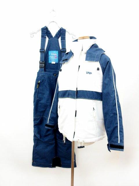 ウィンデックス Windex スキーウェア セットアップ M 白 ホワイト 青 ブルー /ms レディース 【中古】【ベクトル 古着】 180409 ブランド古着ベクトルプレミアム店