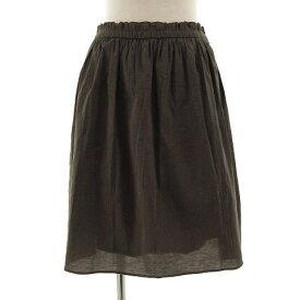 【中古】 ノーリーズ Nolley's スカート ひざ丈 フレアー コットン混 ブラウン 茶 38 レディース 【ベクトル 古着】 190531