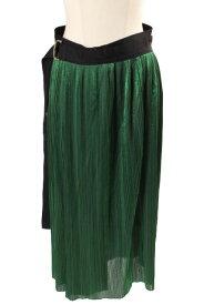 【中古】 ビューティフルピープル beautiful people 18SS スカート ロング ギャザー M 緑 グリーン /mm0424 レディース 【ベクトル 古着】 190424