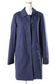 【中古】 セオリー theory IGHT POPLINCAR COAT コート ステンカラー 中綿 S 青 ブルー /hn0420 レディース 【ベクトル 古着】 190420